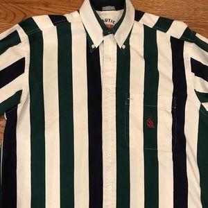 Vintage 90's Nautica SailsSports Color Block Shirt